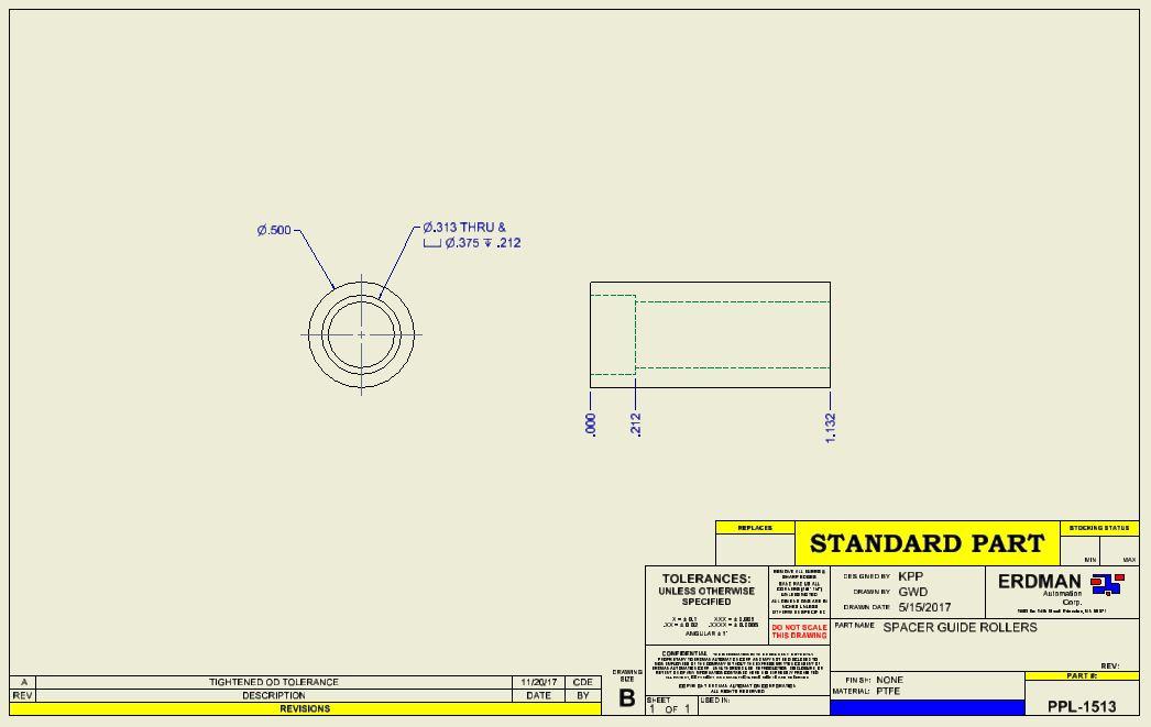 PPL-1513, Spacer Guide Roller