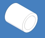 (4 Pack) 2639T8 PTFE Sleeve Bearing, 5/16
