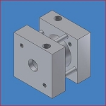 FS040.5, Bimba Air Cylinder, Flat Square, Double Acting, 3/4