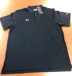 UM0494, Erdman, Under Armour Men's Polo (Black only) (XXL only)