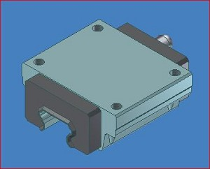 HSR35 A SS, LINEAR BEARING, HSR35 A, HEAVY LOAD TYPE, 4THD HOLES, WITH END & SIDE SEALS